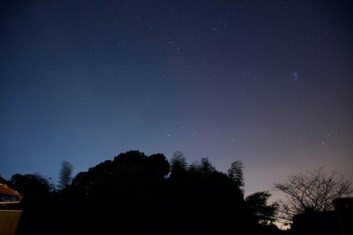 せとうち母家の夜は、見上げれば満点の星空です。
