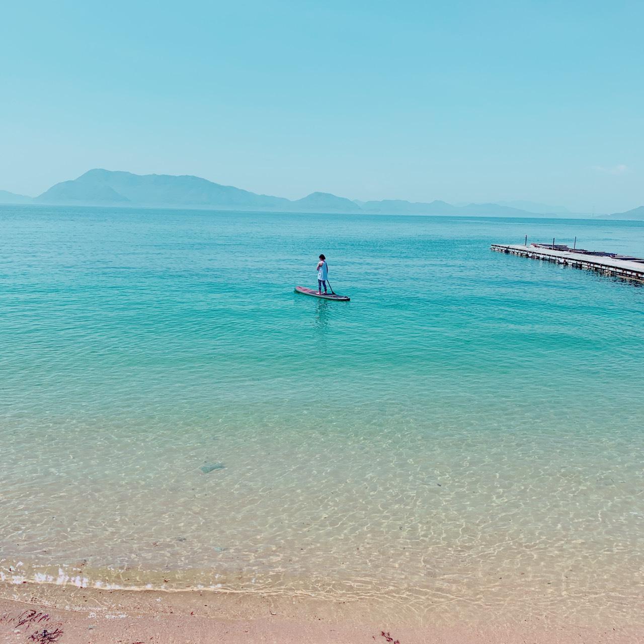 瀬戸内海をSUPで水上散歩